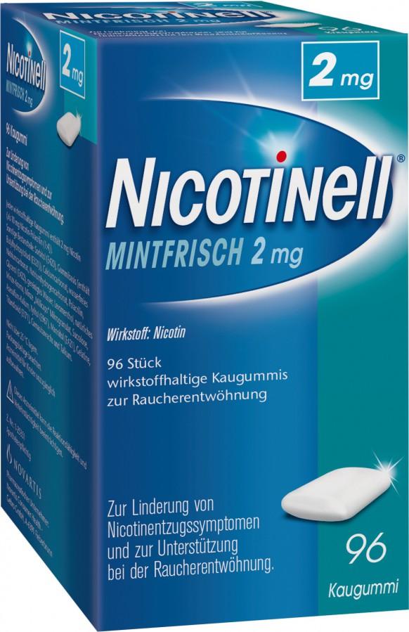 Nicotinell MintFrisch 2mg–wirkstoffhaltige Kaugummis zur Raucherentwöhnung