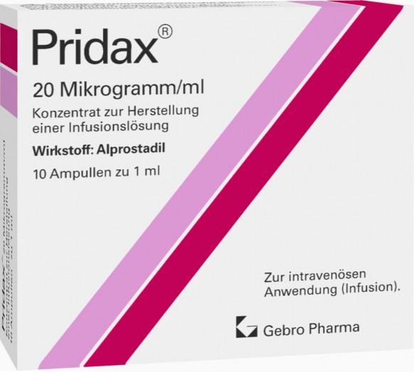 Pridax® 20 Mikrogramm/ml-Konzentrat zur Herstellung einer Infusionslösung