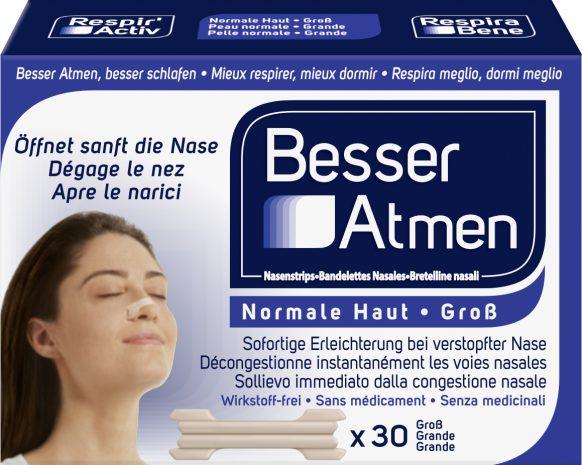 Besser Atmen Nasenstrips Groß Beige